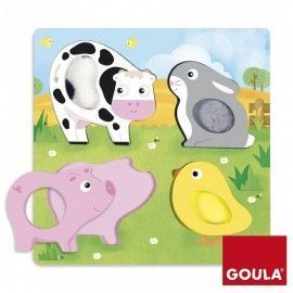 Puzzle tactil animalitos granja