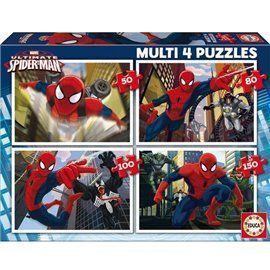 Multi 4 puzzles spiderman