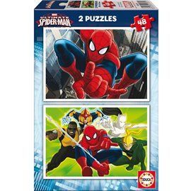 Puzzle spiderman 2 x 48