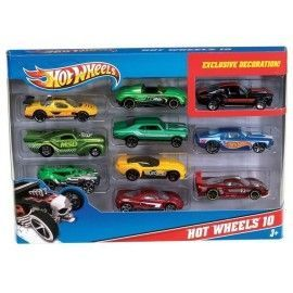 Hot wheels pack 10 coches
