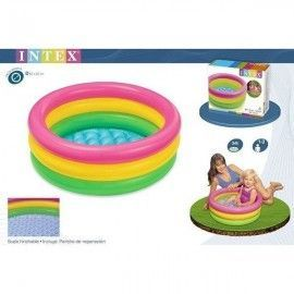 Intex Piscina 3 tubos colores 61 x 22 cm