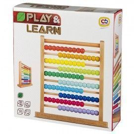 Play & Learn abaco de madera