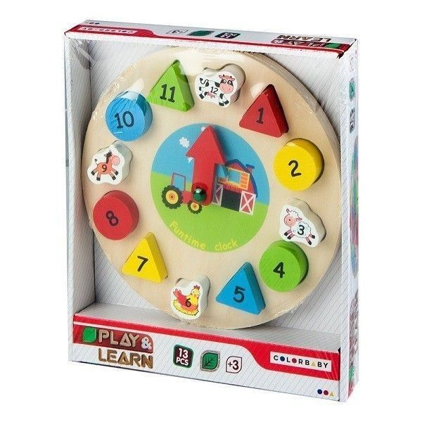 Play & Learn Reloj madera