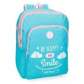 Mochila doble Happy azul
