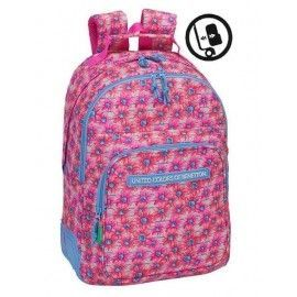 Mochila doble Benetton fiori