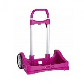 Carro portamochilas evolution fucsia