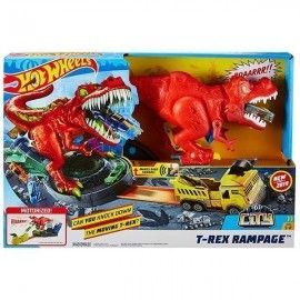 Hot Wheels pista T-Rex alboroto