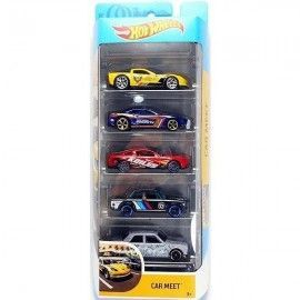 Hot Wheels pack 5 coches Car Meet