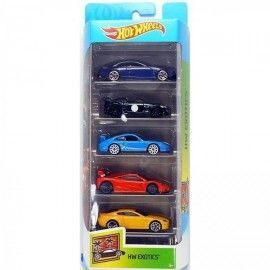 Hot Wheels pack 5 coches Exotics