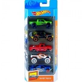 Hot Wheels pack 5 coches hot trucks