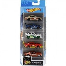 Hot Wheels pack 5 coches Nightburnerz