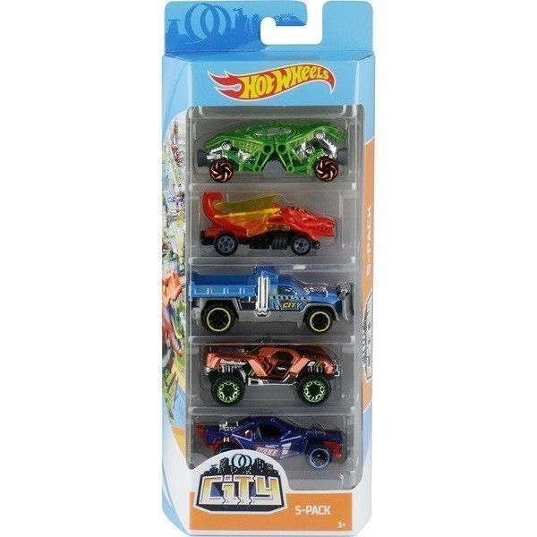 Hot Wheels pack 5 coches City