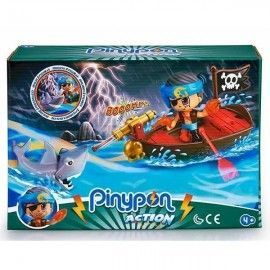 Pin y Pon action bote pirata
