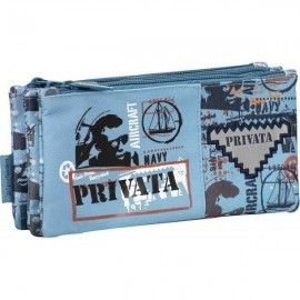 Portatodo triple Privata navy