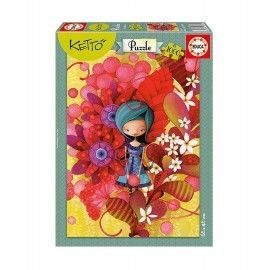 Puzzle Blue Lady - Ketto 1000
