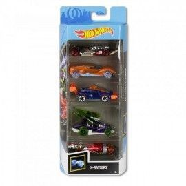 Hot Wheels pack 5 coches X-Raycers