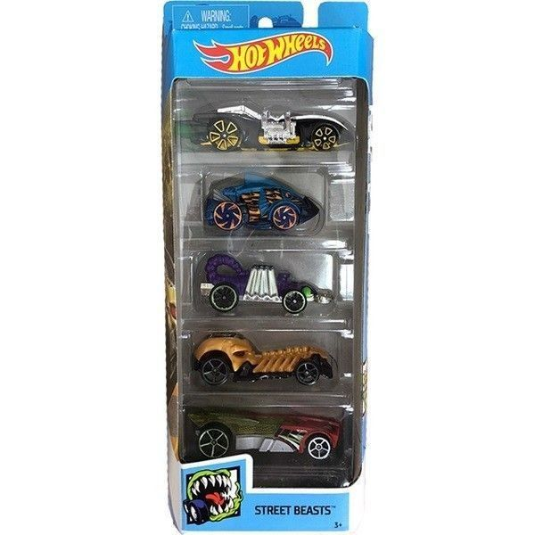 Hot Wheels pack 5 coches Street Beast