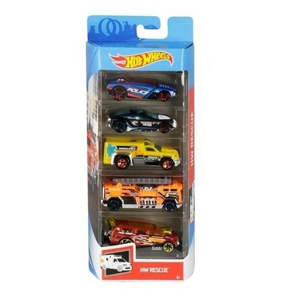 Hot Wheels pack 5 coches Rescue