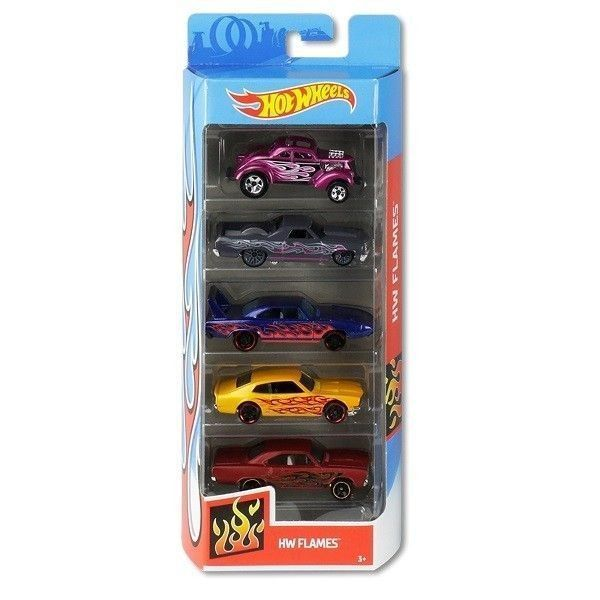 Hot Wheels pack 5 coches Flames