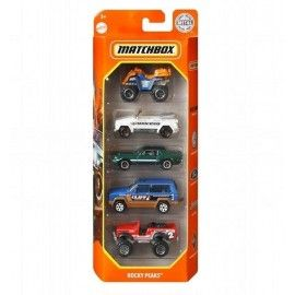 Matchbox pack 5 coches Rocky Peaks