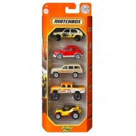 Matchbox pack 5 coches Off Road Rally