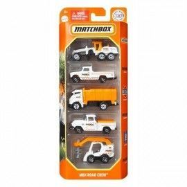 Matchbox pack 5 coches MBX Road crew
