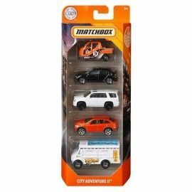 Matchbox pack 5 coches City adventure II
